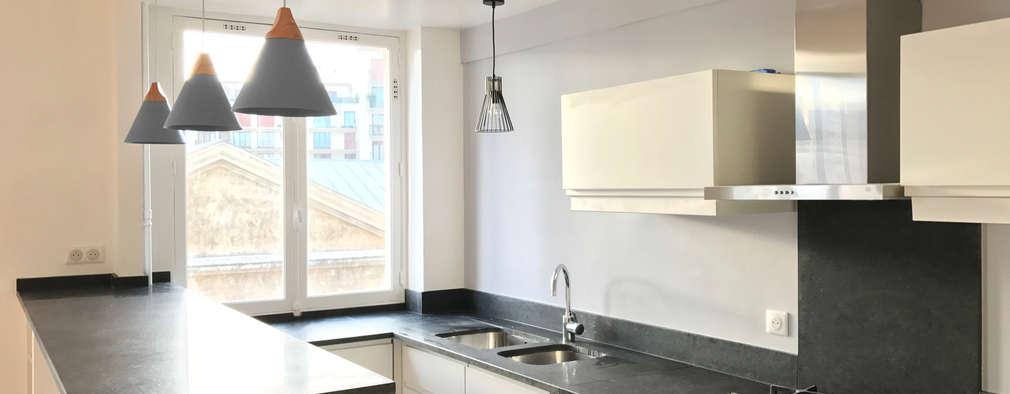 Paris - Cuisine: Cuisine de style de style Moderne par Atelier d'architecture ASTA