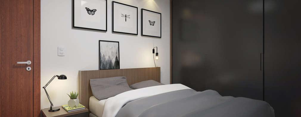Cuartos de estilo moderno por Filipe Castro Arquitetura   Design