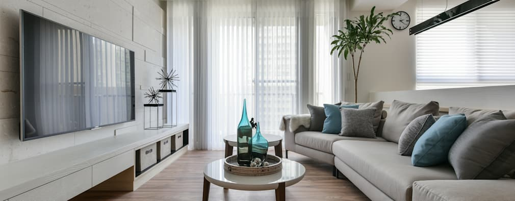 غرفة المعيشة تنفيذ 存果空間設計有限公司