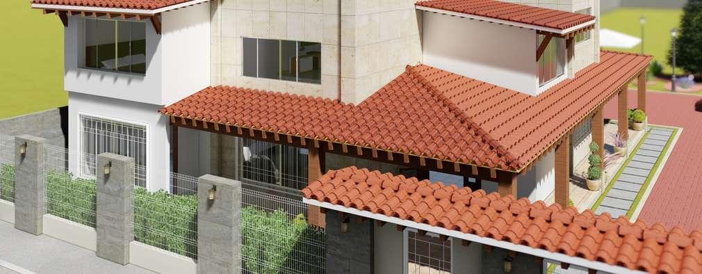 Casas de estilo mediterraneo por IAD Arqutiectura
