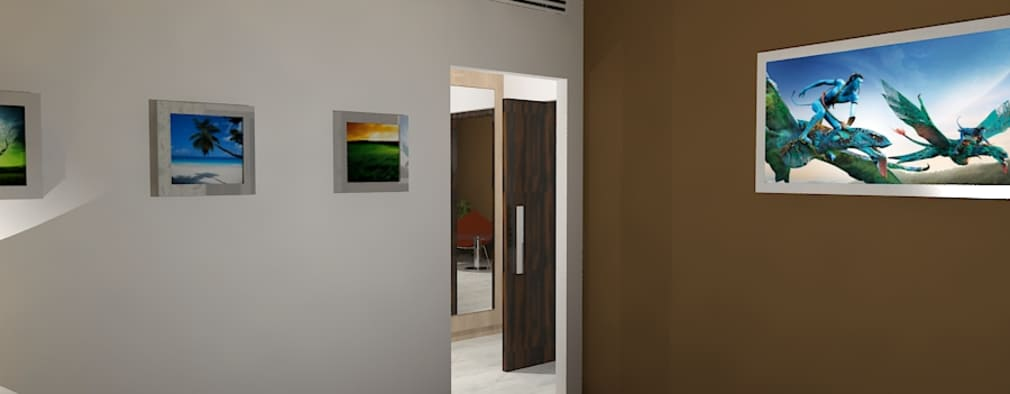 Palacio 1BHK : modern Bedroom by Gurooji Design