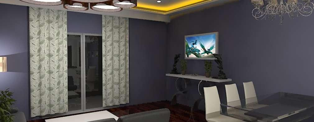 Palacio 2BHK: modern Dining room by Gurooji Design