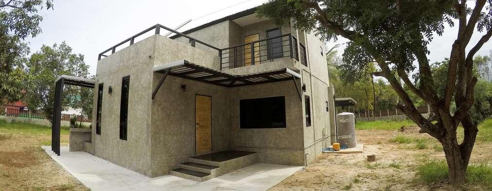 Una casa vaciada en concreto for Casas de cemento