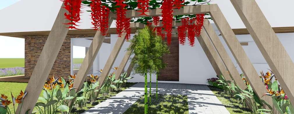 31 jardines maravillosos para la entrada de tu casa - Entradas de jardines ...