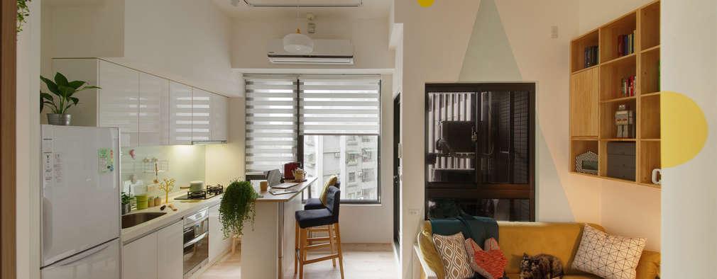scandinavian Living room by 一葉藍朵設計家飾所 A Lentil Design