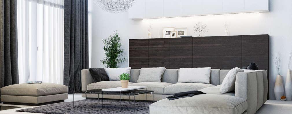 minimalistic Living room by Студия дизайна 'Азбука Дом'