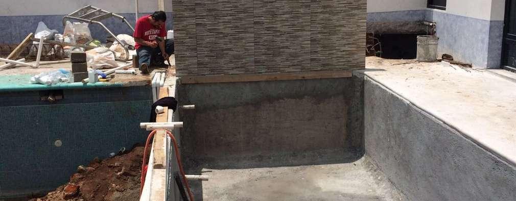 C mo construir una piscina de concreto en el patio paso a for Como construir una alberca de concreto