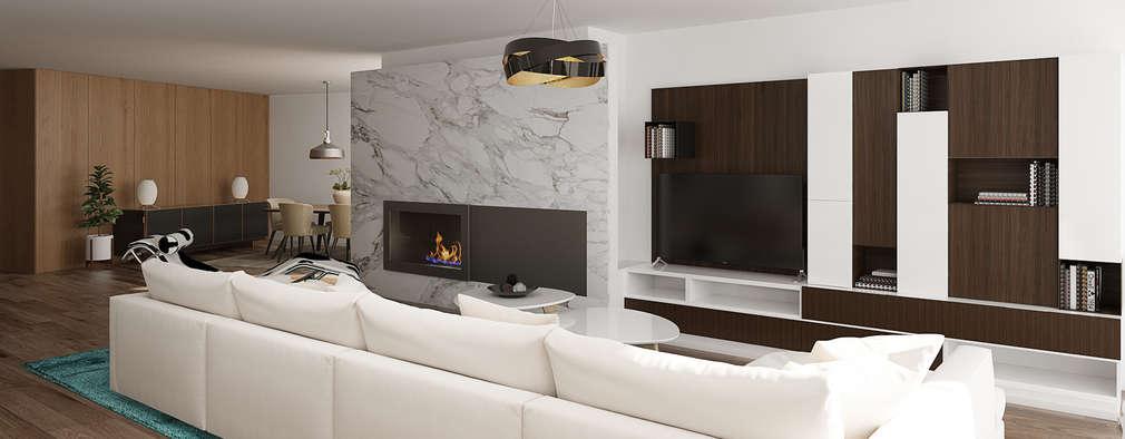 Moderne Wohnzimmer Von EsboçoSigma, Lda