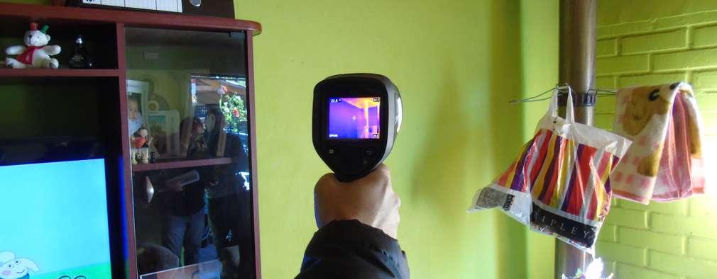 Inspección del comportamiento térmico mediante termografía de viviendas existentes:  de estilo  por Ecosustenta. Arquitectura Ingenierìa y Construcciòn Sustentable
