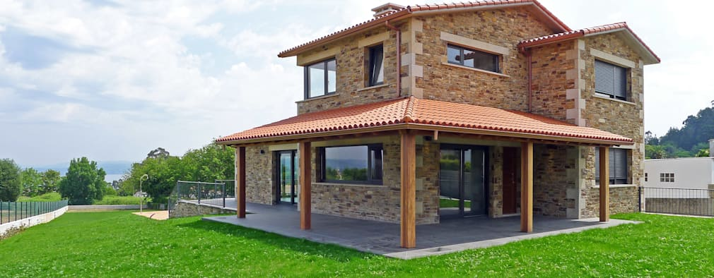 Una casa rustica perfetta per la periferia o la campagna - Casas de una planta rusticas ...