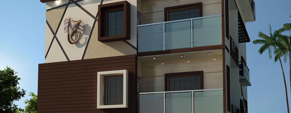 Residence OF Mr.Raghav: asian Houses by A-Z Architects & Vaastu