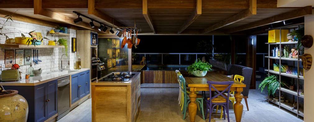 Área Gourmet: Cozinhas tropicais por Montenegro Arquitetura