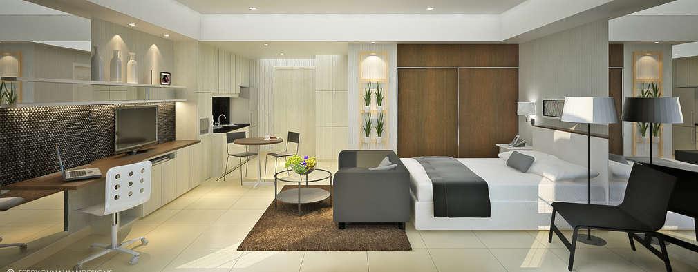 Desain interior 2 tipe apartemen studio 2 kamar tidur for Design apartemen 2 kamar