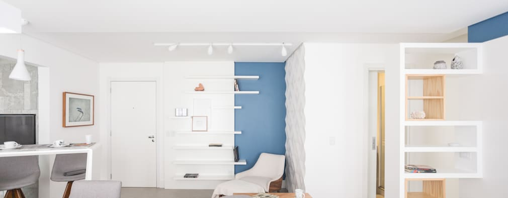 Salas / recibidores de estilo ecléctico por ARQ.STHÊ.DEZ