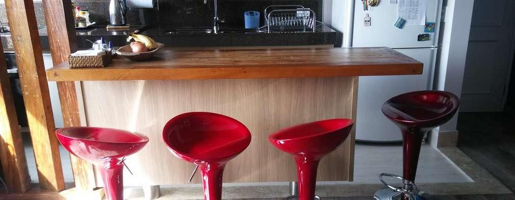 廚房 by PRISCILLA BORGES ARQUITETURA E INTERIORES