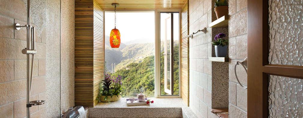 雙溪山居-鄉村風格:  浴室 by 采荷設計(Color-Lotus Design)