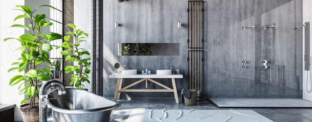 Bathroom - Industrial style: industrial Bathroom by homify demonstration profile