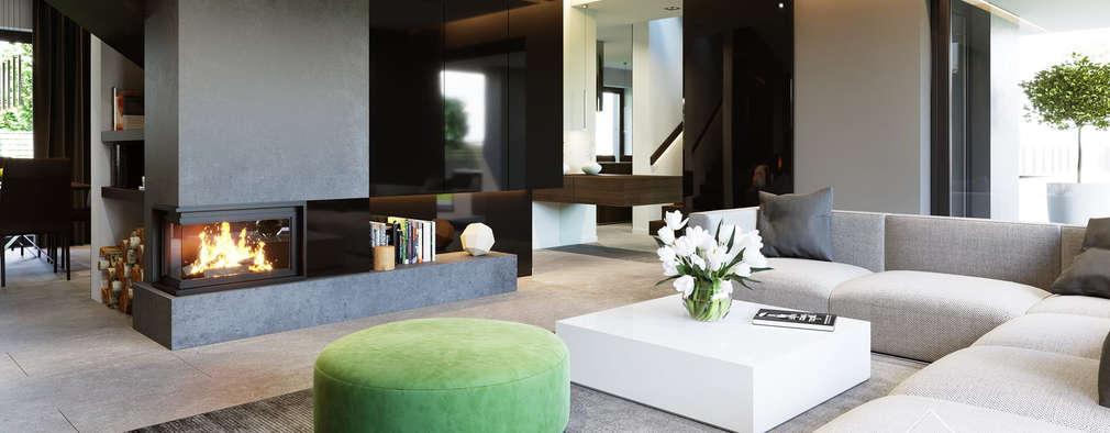 Projekt domu HomeKONCEPT 51: styl , w kategorii Salon zaprojektowany przez HomeKONCEPT | Projekty Domów Nowoczesnych