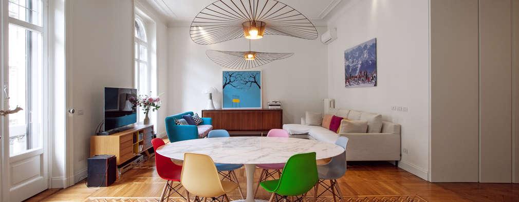 Salas / recibidores de estilo moderno por Chantal Forzatti architetto
