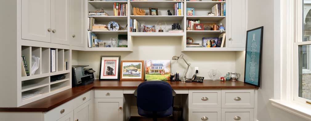 Luxury Kalorama Condo Renovation in Washington DC: classic Study/office by BOWA - Design Build Experts