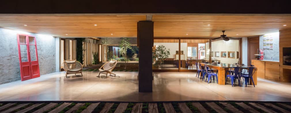 Casa Cuatro Aguas : Livings de estilo rústico por Dx Arquitectos