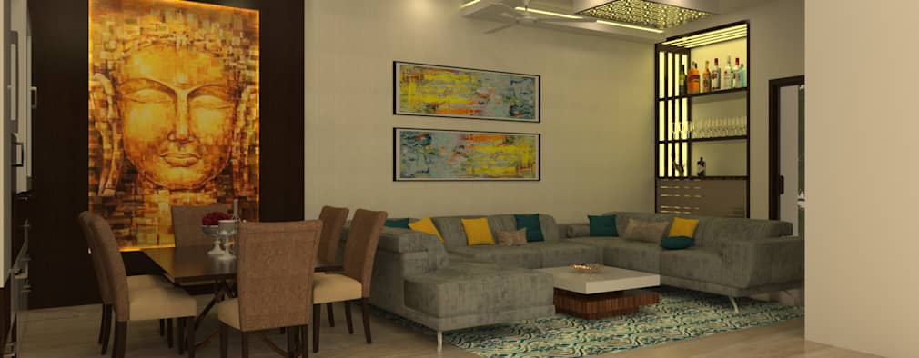 Formal Living Area: modern Living room by Prodigy Designs