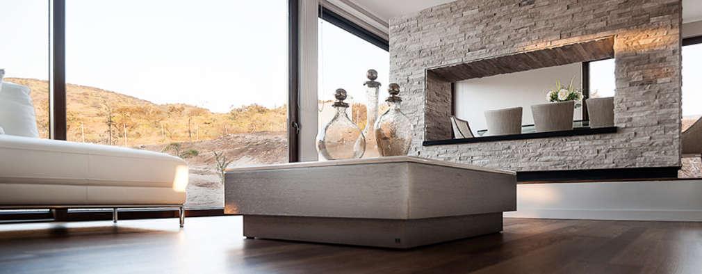 Casa Patio: Livings de estilo moderno por Bauer Arquitectos