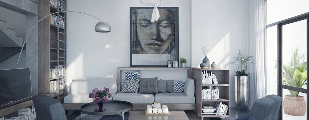 Living Room:   by Bel Decor