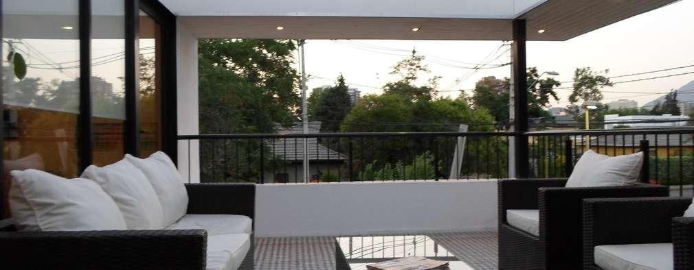 CASA BELLO HORIZONTE: Terrazas  de estilo  por [ER+] Arquitectura y Construcción