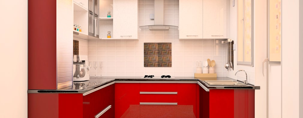 SNN Raj Serenity, 3 BHK - Mr. Ramprasath:  Built-in kitchens by DECOR DREAMS