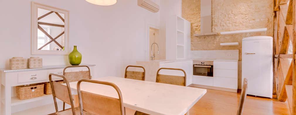 Apartamento Rua Boavista / Lisboa - Apartment in Rua Boavista / Lisbon: Salas de jantar modernas por Ivo Santos Multimédia