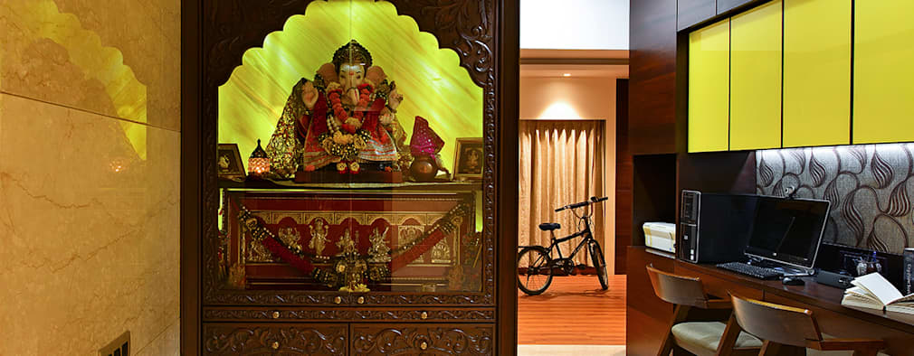 Khar Residence: modern Study/office by SM Studio