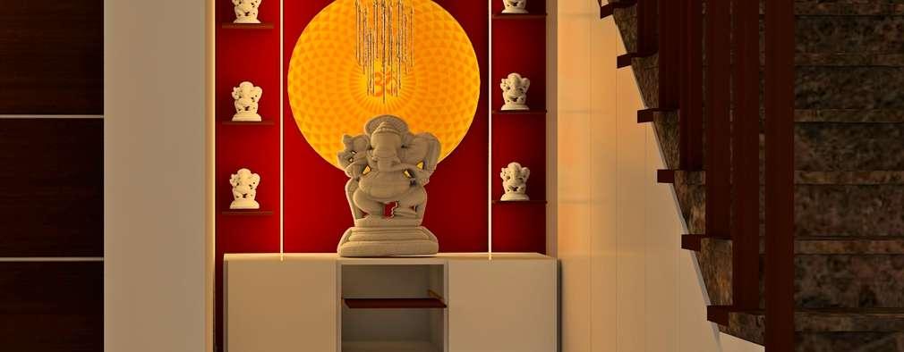Mantri Webcity, Duplex 3 BHK - Mr. Vishal: modern Living room by DECOR DREAMS