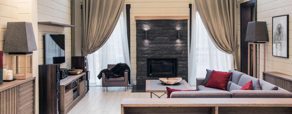 scandinavian Living room by Творческая мастерская АRTBOOS