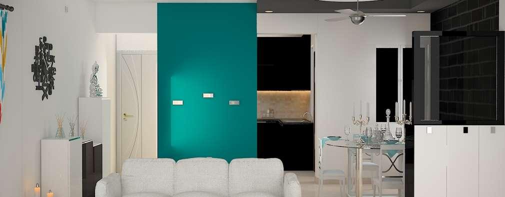 DLF Woodland Heights, 3 BHK - Mrs. Darakshan: modern Living room by DECOR DREAMS