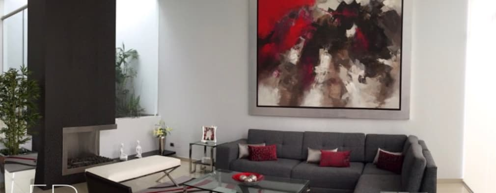 Sala Principal: Salas / recibidores de estilo moderno por EPG  Studio