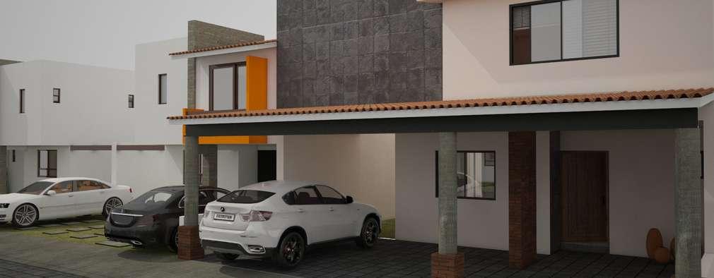 Proyecto de vivienda en Metepec:  de estilo  por César García