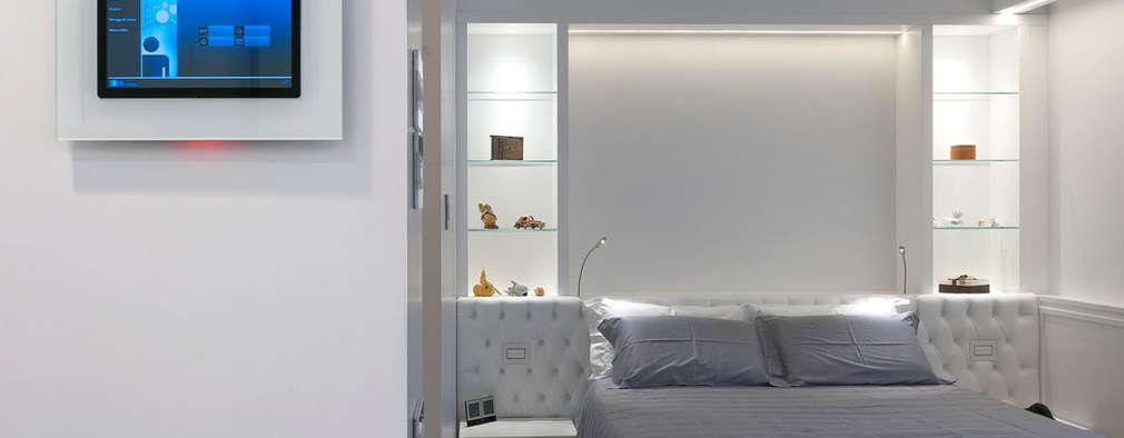 Habitación: Habitaciones de estilo minimalista por Vimar Colombia