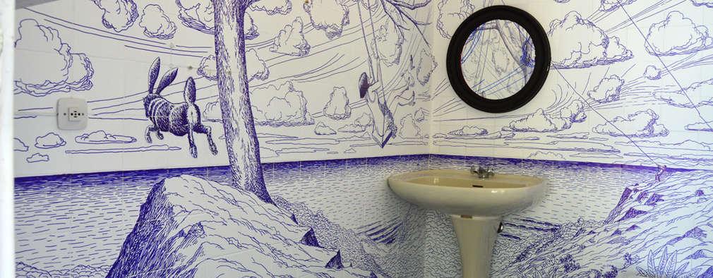 حمام تنفيذ Jorge Fin. Murals