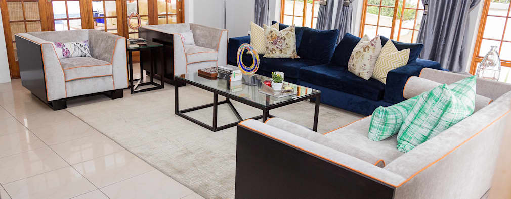 Contemporary meets African accents :   by Indoni Interiors