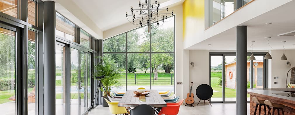 Rose Project: modern Dining room by Dan Wray Photography