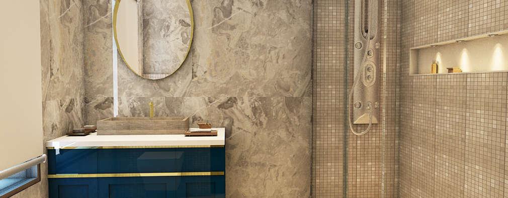 WASHROOM - VIEW 1: classic Bathroom by MAD DESIGN