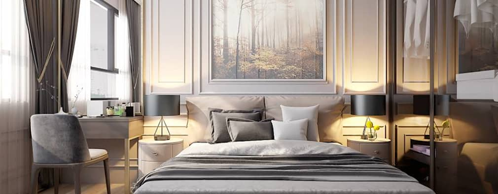 غرفة نوم تنفيذ LEAF Design