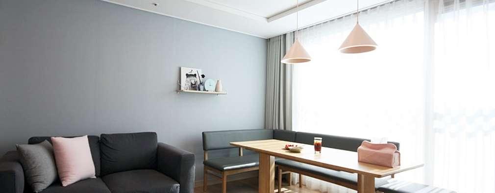 Livings de estilo escandinavo por homelatte