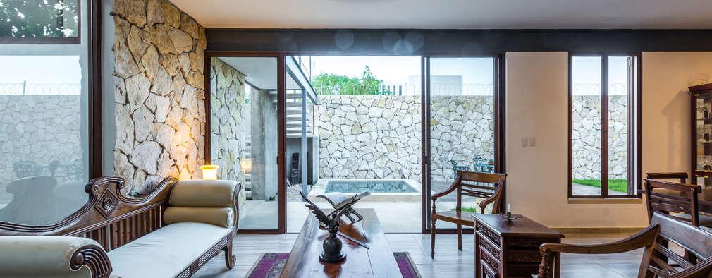 mediterranean Living room by Cetina y Ancona Arquitectos
