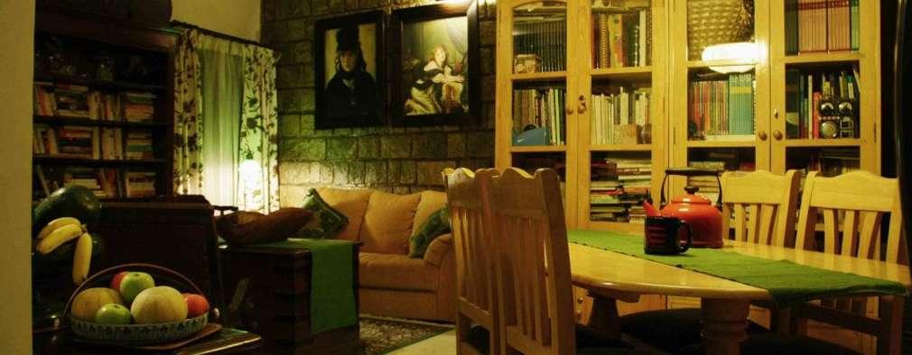 RESIDENCE: rustic Living room by Rubenius