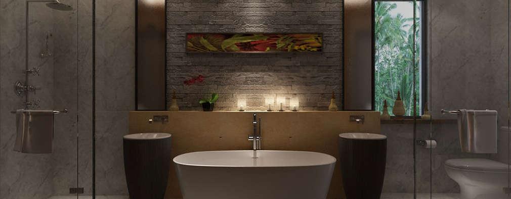 : modern Bathroom by The Design Code