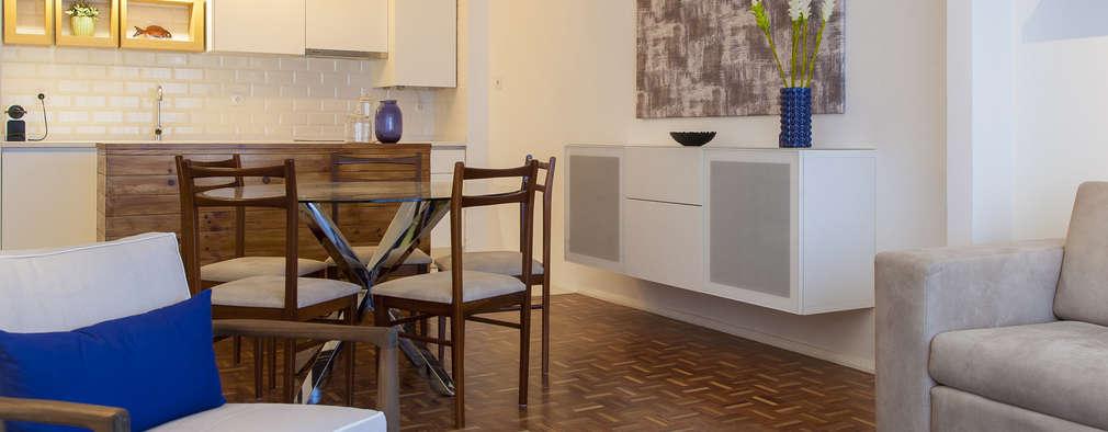 Sala_Zona de refeições:   por Traço Magenta - Design de Interiores