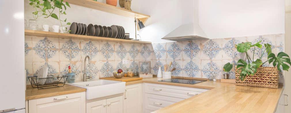 14 cocinas con madera clara que te encantar n - Cocinas madera clara ...