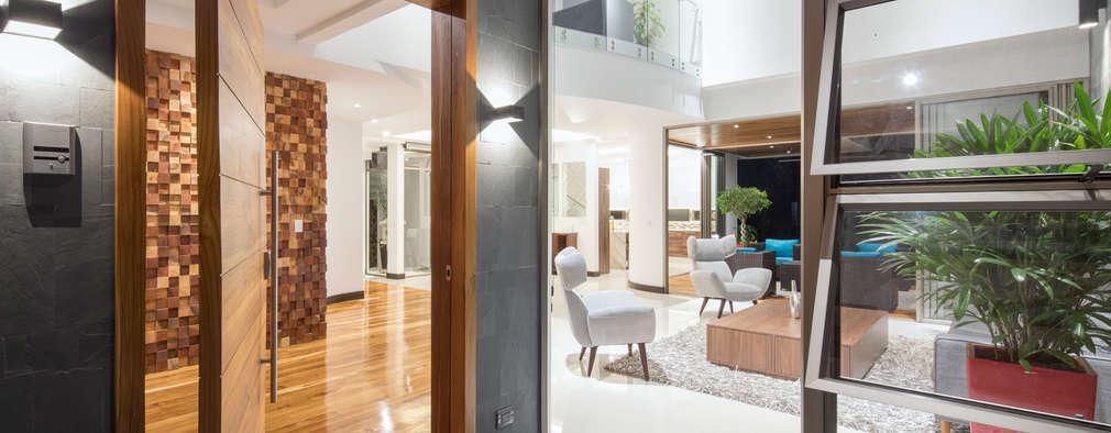12 puertas de entrada para una casa moderna y con estilo for Puertas de frente modernas
